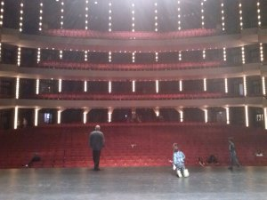 View from the back of the stage