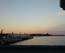 Moon over water 1