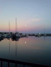 Moon over water 5
