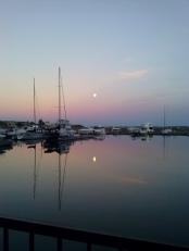 Moon over water 5