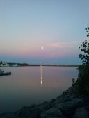 Moon over water 6
