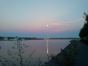 Moon over water 7