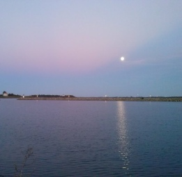 Moon over water 8
