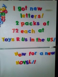 I can write a novel on the fridge now!